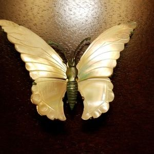 Jewelry - Mother of pearl butterfly broach